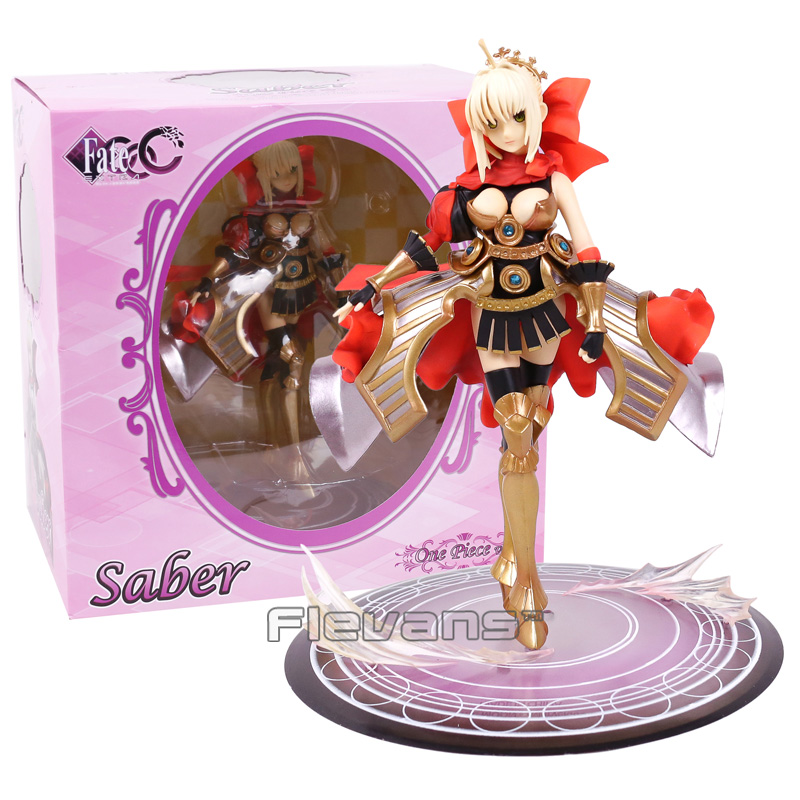 Fate/Extra CCC Saber One Piece Ver. 1/7 Scale PVC Figure Collectible Model Toy 24cm fate stay night fate extra red saber pvc figure toy anime collection new