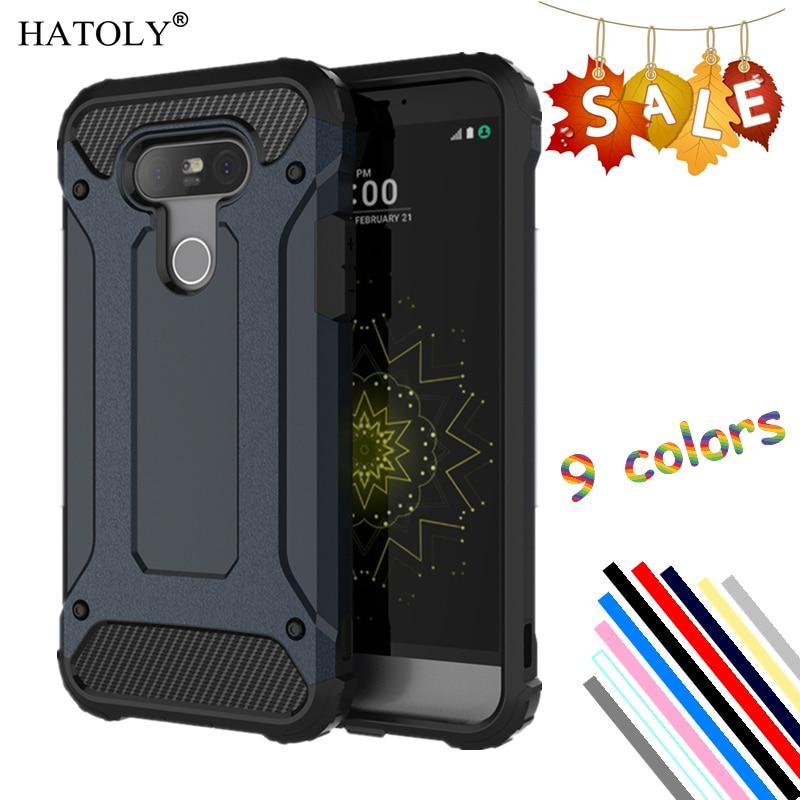 HATOLY Untuk Penutup LG G5 Kasus Silikon Karet Armor Kasus Telepon Keras Untuk LG G5 Penutup Untuk LG G5 H850 VS987 H820 LS992 H830 H845 # <
