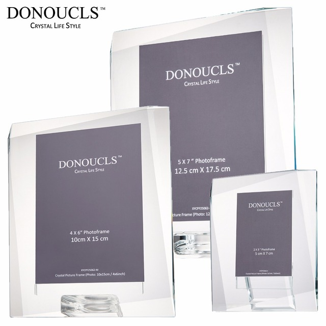 DONOUCLS Photoframe Radiance Beveled Crystal Picture Frames Optical ...