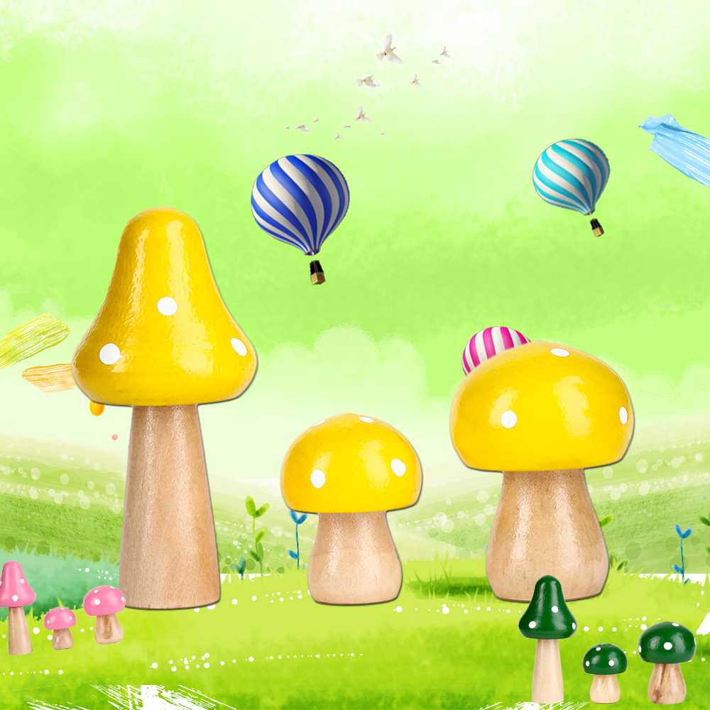 Good 2018 New 3 Pcs/Set Wood Mushrooms Miniature Fairy Garden Home Decoration  Craft Micro Landscape Decor DIY Gift Moving Forest In Figurines U0026  Miniatures From ...