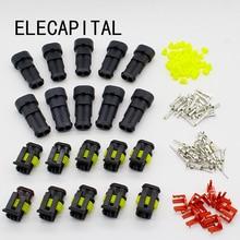 Промо-акция! 10 комплект 2 Pin Путь Водонепроницаемый электрический провод разъем