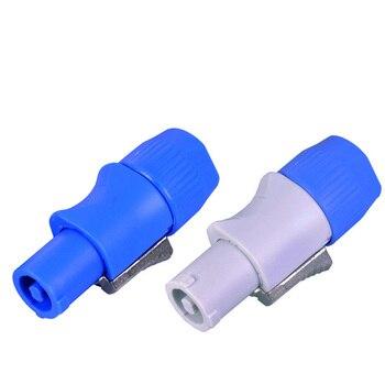 Соединитель Powercon A20 220A AC Разъем питания синий/белый для LED Par \ Moving Head LED кабель питания разъем