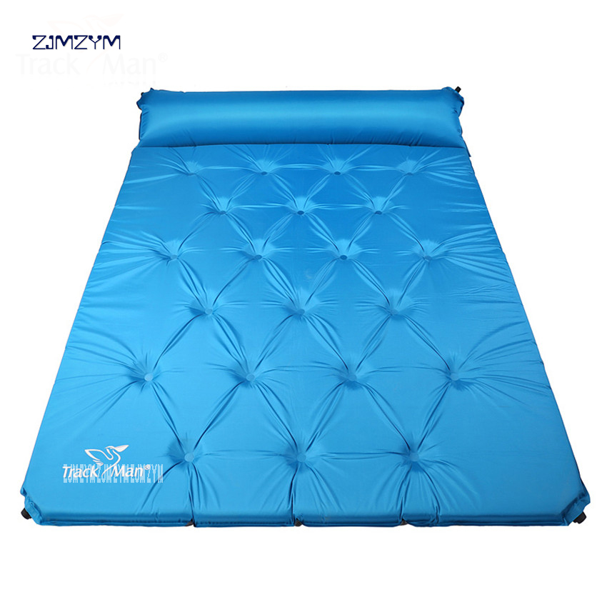 2 person automatic inflatable mattress self inflating hiking travel fishing beach cushion BBQ mat outdoor camping pad ArmyGreen hewolf outdoor 2 person automatic inflatable mattress cushion picnic mat inflating hiking camping travel beach moisture pad