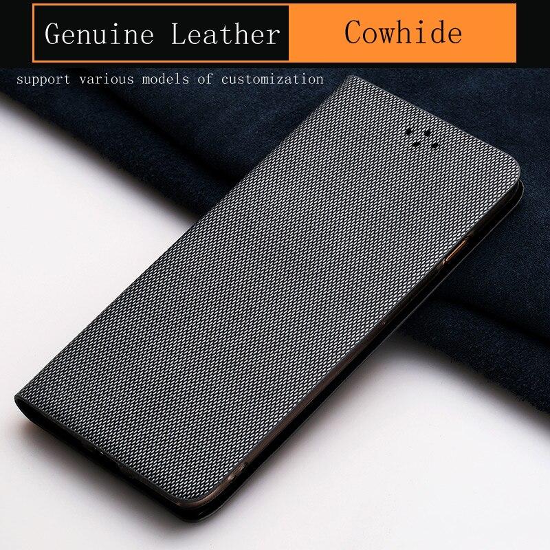 Genuine Leather Flip Phone Case For Xiaomi Mi 5 6 Max 2 case Business Style Diamond Texture For Redmi Note 4 4X 4A 5 Plus Cover