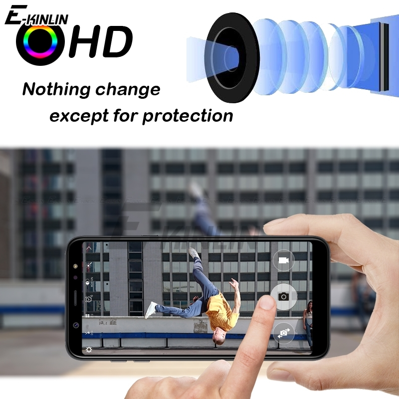 Clear Back Camera Lens Screen Protector Protective Film Tempered Glass For Samsung Galaxy A6 A8 Plus A3 A5 A9 A7 2018 2017 in Phone Screen Protectors from Cellphones Telecommunications