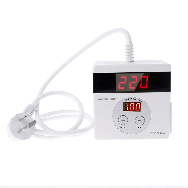 Regulador de voltaje electrónico 4000W SCR, regulador LED Digital CA 220V, ajuste del controlador regulador de intensidad y velocidad de temperatura, termostato Zapatos de madera de pino para hombre, perilla de Metal, longitud ajustable y anchura, cuidado de los zapatos