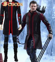 Express! CGCOS Anime Cosplay Costume Avengers Age of Ultron Hawkeye Uniform Game Cos Halloween Christmas Party Custom Made