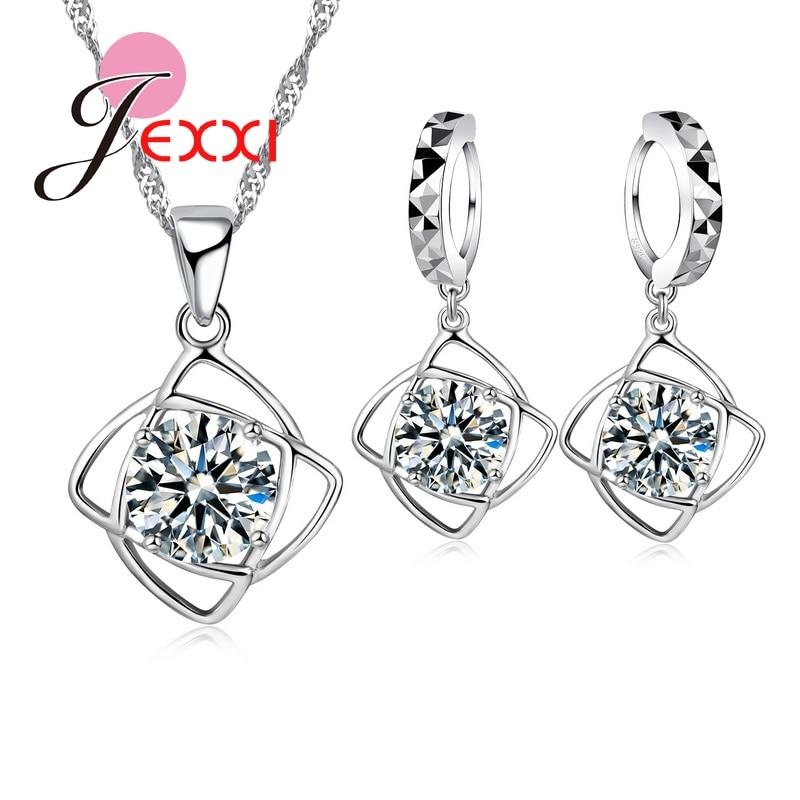 Motiviert Heißer 925 Sterling Silber Cubic Ia Blume Anhänger Erklaerung Halskette Tropfen Ohrringe Für Frauen Brincos Kragen Schmuck Set