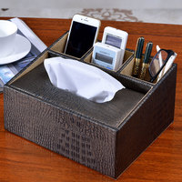 Leather Paper Towels European Creative Living Room Pumping Carts Car Simple Home Remote Control Storage Box
