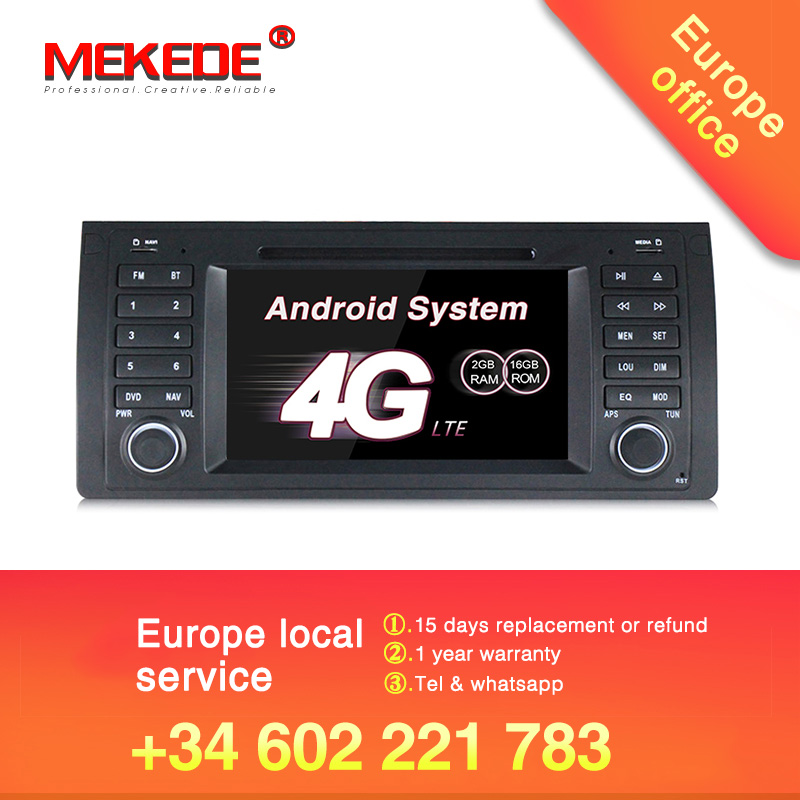 German warehouse Tax free!Quad core Android7.1 Car stereo head unit navigation GPS DVD player for BMW/E39/X5/M5/E53 4G wifi BT-in Car Multimedia Player from Automobiles & Motorcycles    1