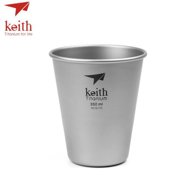 Keith Pure Titanium Beer Mugs Drinkware Outdoor Camping Colored Titanium Coffee Cups Ultralight Travel Mug 350ml 450ml 40g 45g