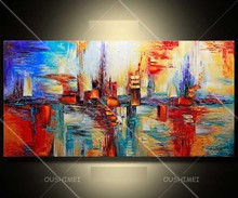 hand painted oil painting in the canvas nice decoration abstract high quality home decor