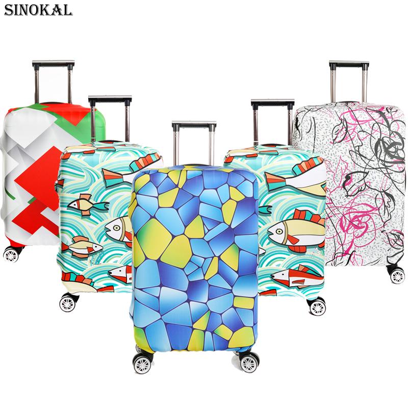 Prix pour Cache-bagages Voyage Valise Couverture Antipoussière Spandex Élastique Bagages Protecteur pour 18 20 22 24 26 26 28 30 32 pouce Chariot cas
