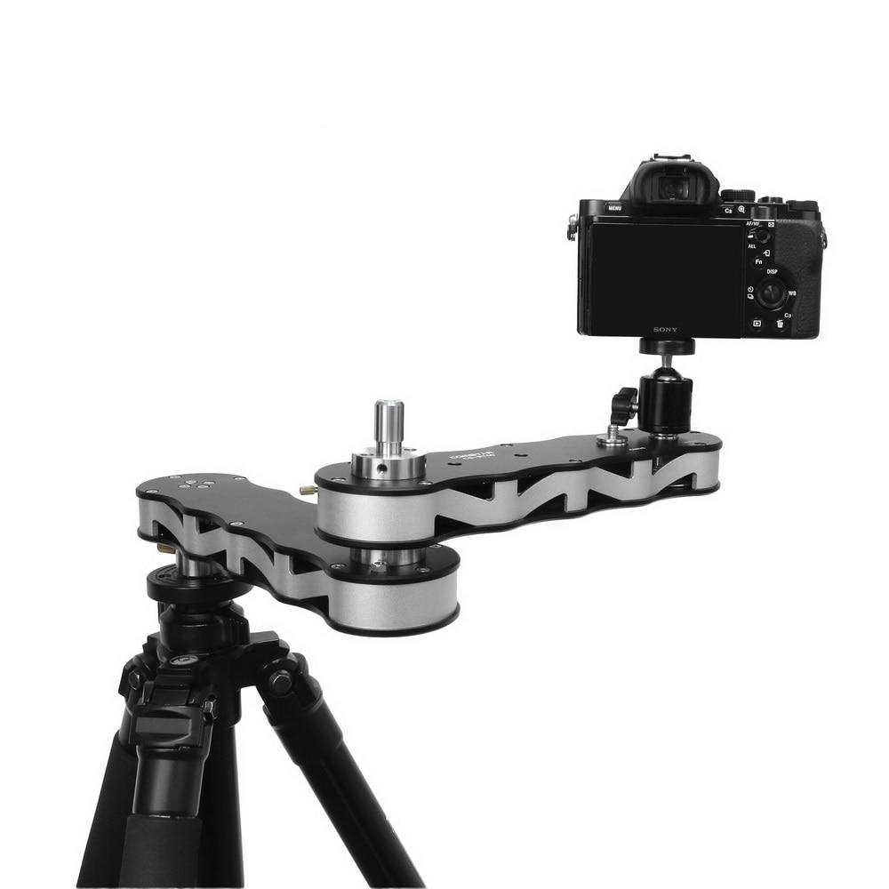 Caméra Portable vidéo curseur Rail Rail bras avec panoramique mouvement linéaire 4x Distance pour DSLR GoPro caméras d'action Smartphone