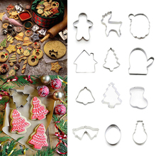 Merry Christmas Various DIY Cookie Cutter Stainless Steel Cut Biscuit Mold Cooking Tools Vegetable Chopper Kitchen Accessories