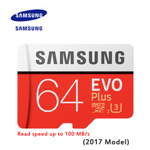 New Product Original SAMSUNG EVO Memory Card Micro SD TF Card 64GB  Class10 U3 4K HD Read speed up to 100 MB/s (2017 Model)
