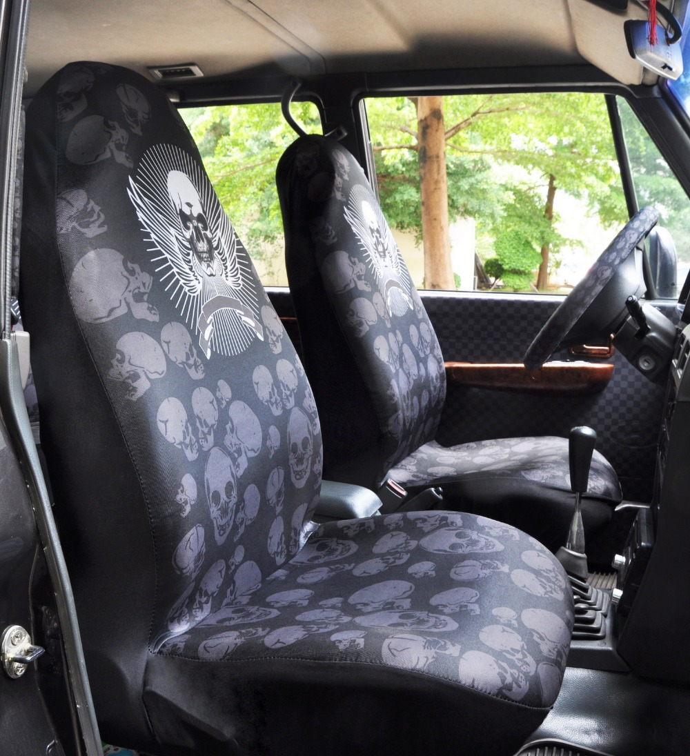 Car Seat Covers Universal Cushion Cover Support Breathable Cool Sleek Skull Truck Van Vehicle Auto Styling Superart In Automobiles From