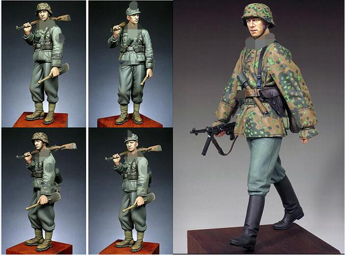 1 16 120mm winter include 2 soldiers 120mm Resin Model Miniature figure Unassembly Unpainted