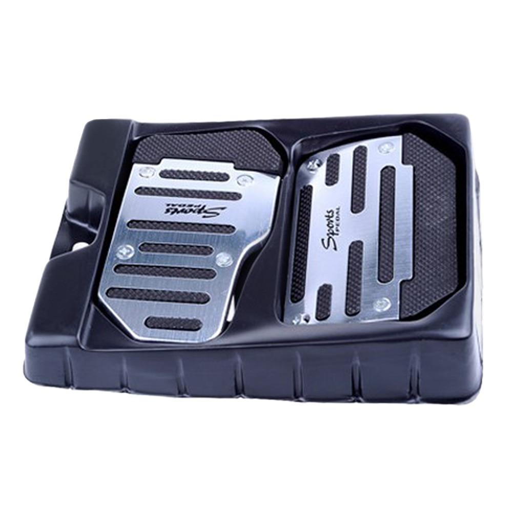 Акселераторная панель Крышка противоскользящая ПВХ доска Педаль крышка тормозного ускорителя - Название цвета: silver