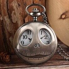 Карманные часы Тим Бертон Кошмар перед Рождеством Кварцевые Ретро лягушка большие глаза Джек Скеллингтон ожерелье кулон череп часы