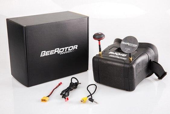 BVONE Beerotor superme-lumière FPV diversité VR lunettes 5.8G 40CH intégré 5 LCD