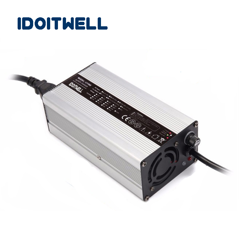 Intelligent 48V 6A Lithium battery cherger 54.6V 6A <font><b>Golf</b></font> <font><b>cart</b></font> <font><b>charger</b></font> tour bus 13S 48 volt Li-ion battery <font><b>charger</b></font> with CE RHOS image