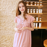 2018 Sexy Girls Nightgown Lingerie Fashion Nightdress Women Scalloped Satin Sleepshirts Silk Sleepwear Chemises