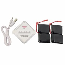 4PCS 3 7V 650mah lithium font b battery b font with 4 in 1 charger for