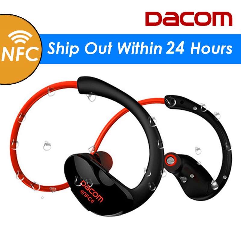 Dacom Athlete Bluetooth Headset Wireless Headphone BT4.1 Sports Stereo Earphone with HD Mic NFC auriculares for iPhone Samsung rock y10 stereo headphone earphone microphone stereo bass wired headset for music computer game with mic