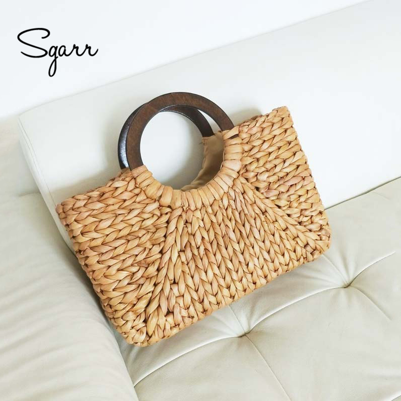 SGARR Summer Straw Beach Bags For Women High Quality Handmade Ladies Shoulder Bag New Fashion Female Large Capacity Tote Bags 2016 fashion design straw knitting women shoulder bags beach bags women scarf tote handbags for ladies summer tote bags t400