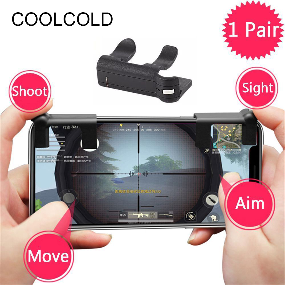 2 Pcs Free Fire PUBG Mobile Game Shoot Button Trigger L1 R1 Joystick Gamepad Rules of Survival Knives Out STG FPS For iPhone IOS