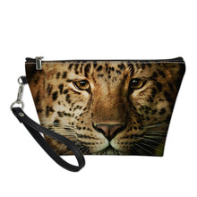 4c9187cc0 THIKIN patrón De animales Neceser De Maquillaje 3D tigres personalizado para  las mujeres bolsas De cosméticos organizador De alm.