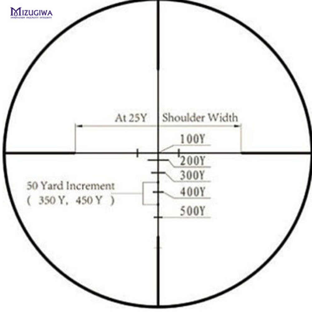 טקטי אופטי Sight 2.5-7x28 מד טווח Reticle Riflescope אופטי Sight היקף רובה אוויר אקדח Airsoft Airgun Chasse ציד