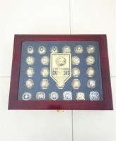 High Quality 1923 2009 All 27 Pcs New York Yankees Ring With The Wooden Display Box