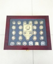 High quality 1923-2009 all 27 pcs new york yankees ring  with the wooden display box