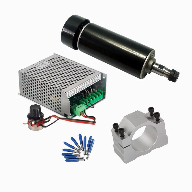 500 W refroidi par Air CNC broche Mach3 gouverneur d'alimentation 52 MM pince ER11 pince 3.175mm outils de CNC pour bricolage machine