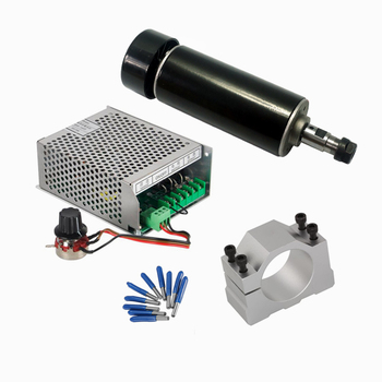 Air Cooled CNC Spindle 500w Mach3 Power Supply Governor 52MM Clamp ER11 Collet 3.175mm CNC Tools for diy machine hot sale dc 12 48v 400w aluminum alloy cnc spindle motor er11 mach3 pwm speed controller mount 3 175mm