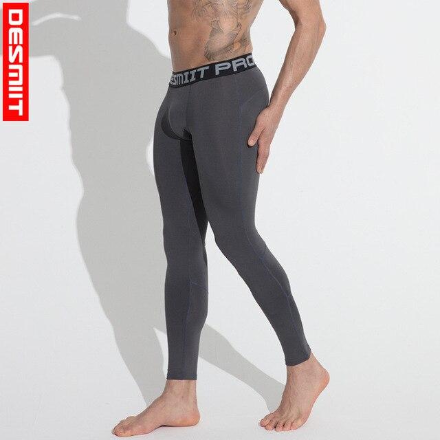 12d5dd843d5d0 DESMIIT Men Running Tights Mens Leggings Compression Pants Fitness Workout  Training Jogging Tight Trousers Sweatpants Sportswear