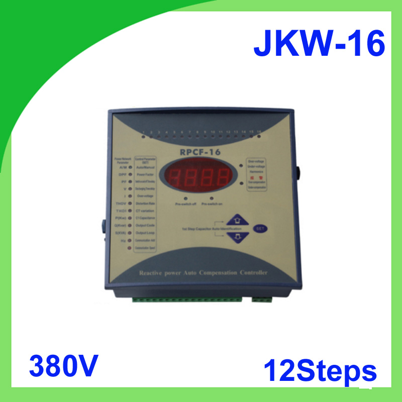 JKW-16 power factor 380v 12steps 50/60Hz JKW16 RPCF Power regulator factor Compensator Digital Power Factor Meter весы jkw 40 x 10 g dps1