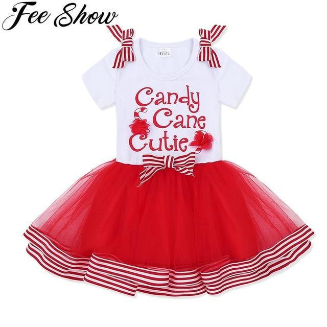 6564aaf00 New Year 2 5 Years Baby Kid Girls Cotton Mesh Christmas Dress ...