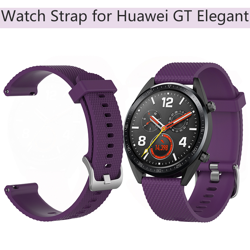Sports Watch Strap for Huawei Watch GT Elegant Honor Wristband Textured Silicone Strap Smart Bracelet Replacement Belt Parts