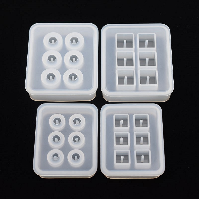SNASAN Silicone Mold For Jewelry 12mm 16mm Cube Ball Beads With Hole 6 Compartment  Epoxy Resin Silicone Mould Handmade Craft