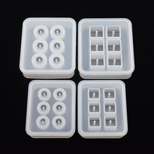 Купить с кэшбэком Snasan Silicone Mold 12mm 16mm Cube ball beads with hole 6 compartment  epoxy Resin Silicone Mould handmade Craft Jewelry Making