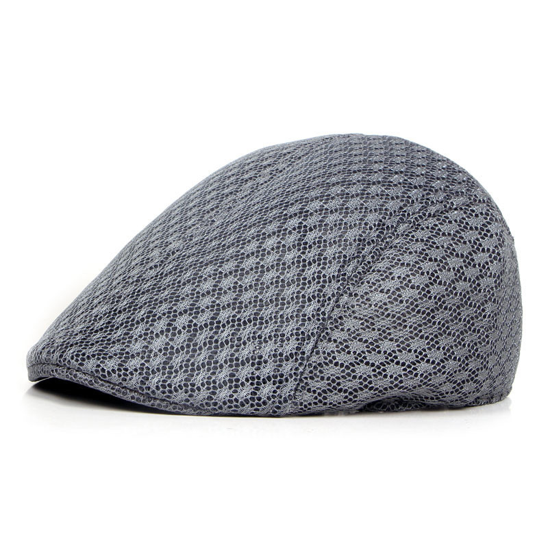 Beret-Cap Mesh Spring Solid-Color Fashion Women Summer Outdoor Unisex CP0075 Fully-Sealed