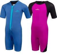New 2MM Neoprene Kids Girls Boys Wetsuits One Pieces Diving Suits Snorkel Surfing Rash Guards Children