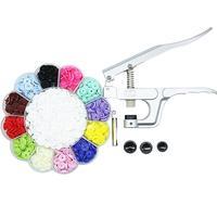 200 Sets T5 Fasteners Drukknopen Snap Knoppen Poppers Gesp Kit Snap Tang Kam Button Kleurrijke Plastic Hars Kleding Knoppen