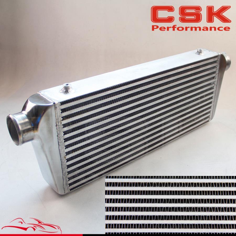 Universal bar plate Intercooler FMIC Aluminum Inter cooler Inlet / Outlet 2.5