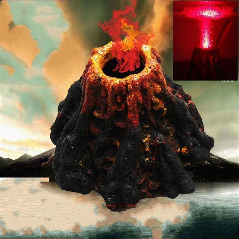 Volcano Shape Air Bubble Stone Aquarium Air Stone Ornament Fish Tank Oxygen Pump Air Pump Fish Tank Decoration