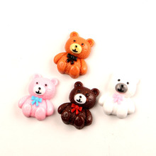 LF  10Pcs Mixed Resin Bear Decoration Crafts Flatback Cabochon Kawaii DIY Embellishments For Scrapbooking Accessories