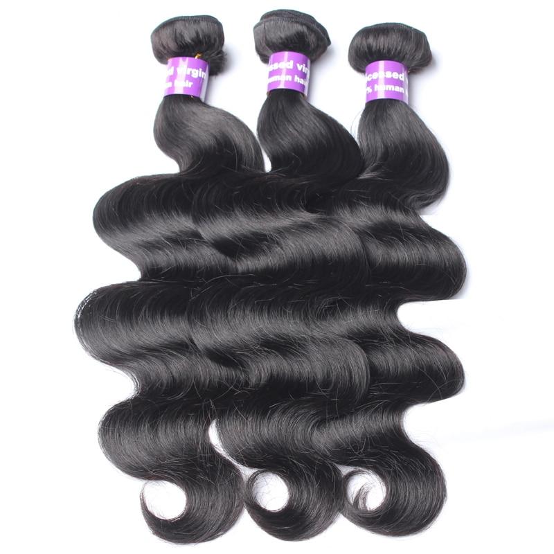 3 Pieces Body Wave Bundles Deal Peruvian Virgin Hair Extension Natural Color Human Hair Weave Bundles Comingbuy Free Shipping